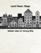 Local Flavor for Fantasy Shops
