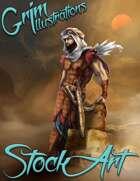 Premium Fantasy Stock Art - Desert Assassin