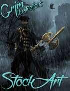 Elite Fantasy Stock Art - Lycanthropy Captain (werewolf)