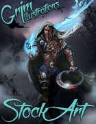 Standard Fantasy Stock Art - Warlock of the Crypt