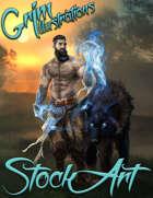 Standard Fantasy Stock Art - Druid of the Light