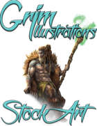 Basic Fantasy Stock Art - Druid (seated)