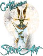 Basic Fantasy Stock Art - Egyptian God (three-quarter body)