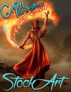Basic Fantasy Stock Art - Flame Dervish