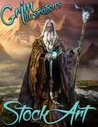 Basic Fantasy Stock Art - Old Wizard #1