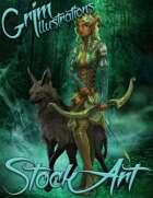 Basic Fantasy Stock Art - Nymph Archer