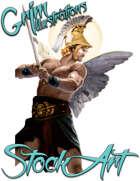 Premium Fantasy Stock Art - Confrontation Celestial & Devil