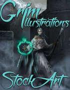 Premium Fantasy Stock Art - Dark Cleric