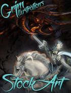 Elite Fantasy Stock Art - Knight vs Balrog (demon battle)