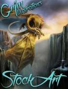 Elite Fantasy Stock Art - Enslaving a Dragon