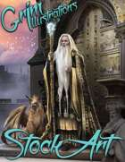 Premium Fantasy Stock Art - Wizard #1 (male with griffin)