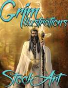Premium Fantasy Stock Art - Wizard #2 (male with wolf)