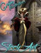 Premium Fantasy Stock Art - Wizard #6 (female)