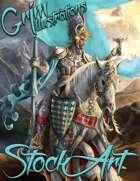 Premium Fantasy Stock Art - Paladin #2 (with mount)