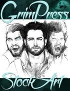 Free Fantasy Stock Art - Werewolf Portraits Sketch