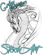 Free Fantasy Stock Art - Dragon Sketches