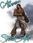 Premium Fantasy Stock Art - Corsair #1 (male pirate)