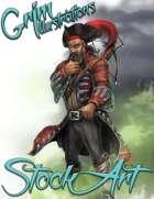 Premium Fantasy Stock Art - Corsair #2 (male pirate with zombie variant)