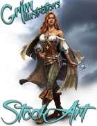 Premium Fantasy Stock Art - Corsair #3 (female pirate)