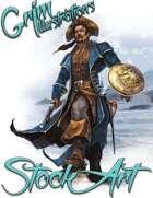 Premium Fantasy Stock Art - Corsair #5 (male)