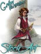 Premium Fantasy Stock Art - Corsair #6 (halfling male)