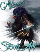 Premium Fantasy Stock Art - Corsair #7 (bird pirate, kenku)