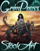 Premium Fantasy Stock Art - Scorpion Woman