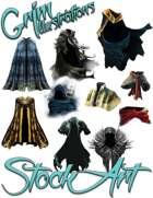 Magical Items Stock Art - Cloak Pack #1