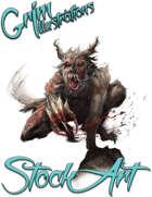 Basic Fantasy Stock Art - Creature #3 (undead werewolf)