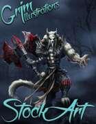 Premium Fantasy Stock Art - Warrior #9 (werewolf)
