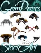 Magical Items Stock Art - Collar & Pauldron Pack #1