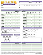 Open Legend Printable Character Sheet