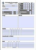 Potenza di 10 (P10) - Foglio del personaggio PDF COMPILABILE
