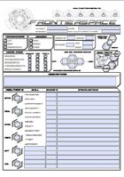 FrontierSpace RPG Character Sheet FORM-FILLABLE PDF