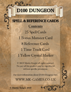 D100 Dungeon - Spell Cards Print and Play