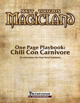 One Page Playbook: Chili Con Carnivore
