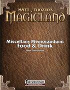 Miscellany Memorandum: Food & Drink