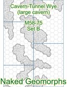 Cavern-Tunnel Wye (large cavern) Set B (M58-75B)