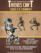 Skeletons! Paper Mini Figurines