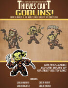 Goblins! Paper Mini Figurines (Includes Back Art)