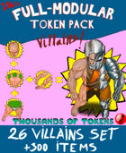 Full Modular Tokens - Villains