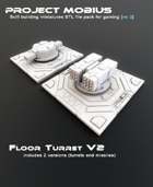 3D Printable Floor Turret V2 (2 Versions)