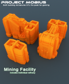 3D Printable Mining Facility With Individual Refinery