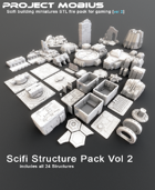 3D Printable Scifi Structures Pack Vol 2