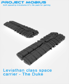 3D Printable Leviathan Class Space Carrier - The Duke