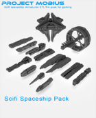3D Printable Spaceship Pack