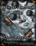 Winter Ambush Site 25x22 Battlemap