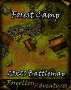 Forest Camp 25x20 Battlemap