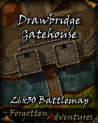 Drawbridge Gatehouse Site 26x30 Battlemap