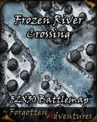 Frozen River Crossing 32x30 Battlemap